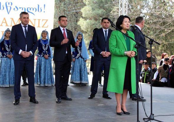 """Salome Zurabişvili: """"Sizinlə rus dilində danışa bilmirəm bu bizi birləşdirən dil deyil"""""""