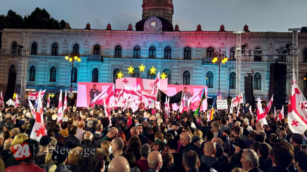 Tbilisidə minlərlə insanın iştirak etdiyi genişmiqyaslı aksiya başa çatıb