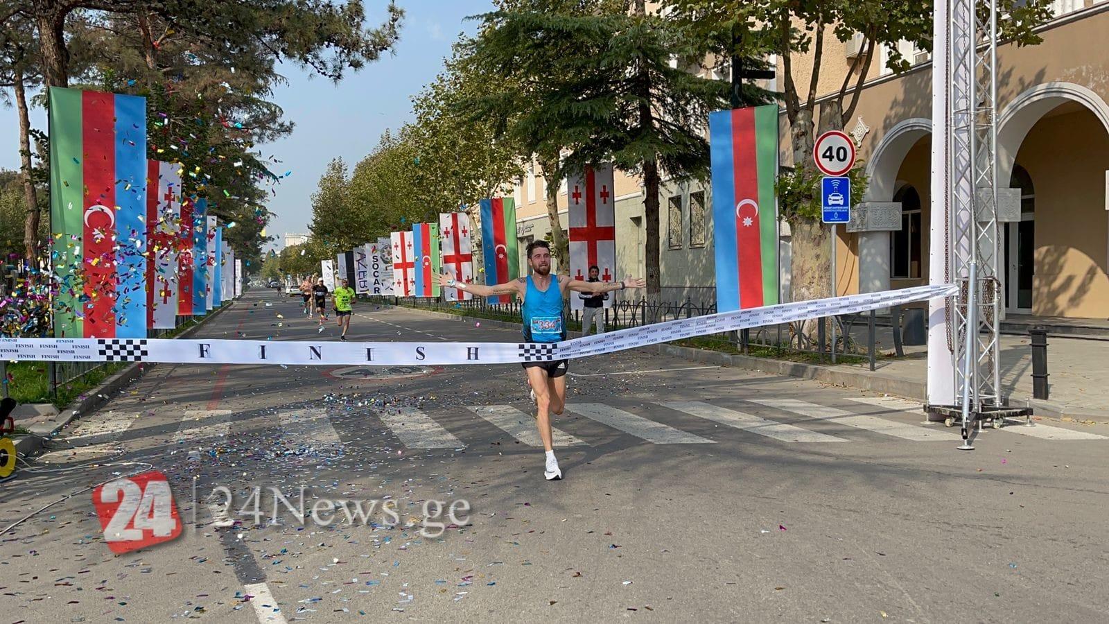 Tbilisidən start götürən marafonun ilk qalibi məlum olub (VİDEO)