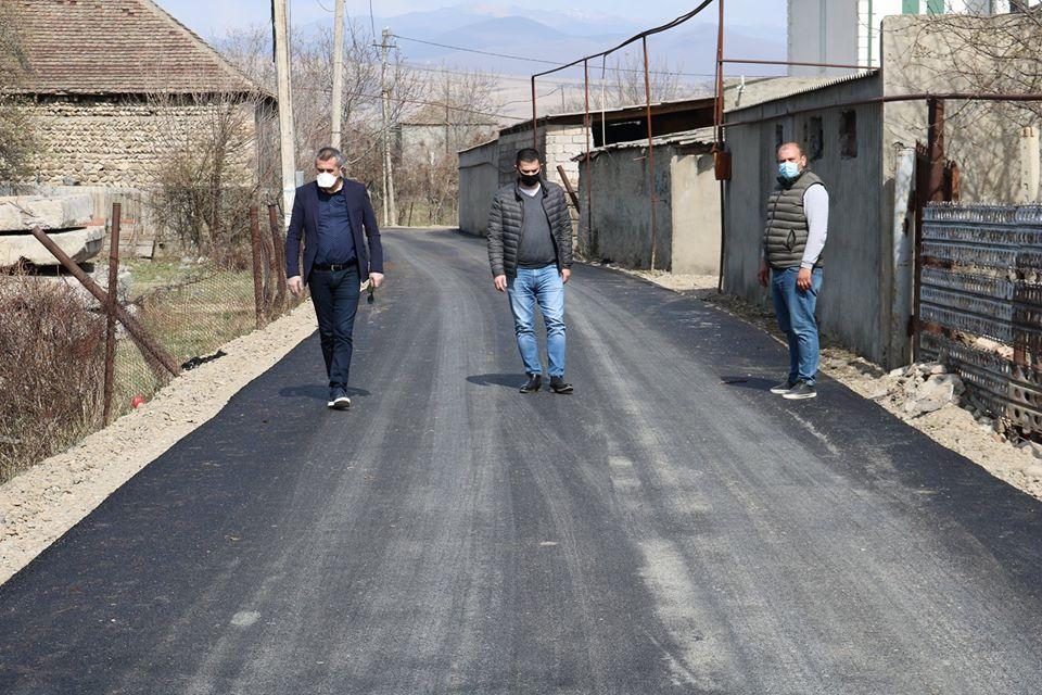 Qardabaninin iki kəndində yeni yol çəkilir (FOTO)